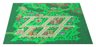 "EarthBound, Onett Map 36"" x 60"" Doormat Welcome Floormat"