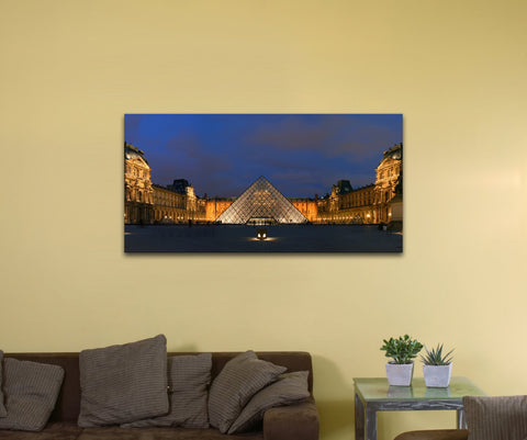 "Louvre Museum, France (10"" x 20"") - Canvas Wrap Print"
