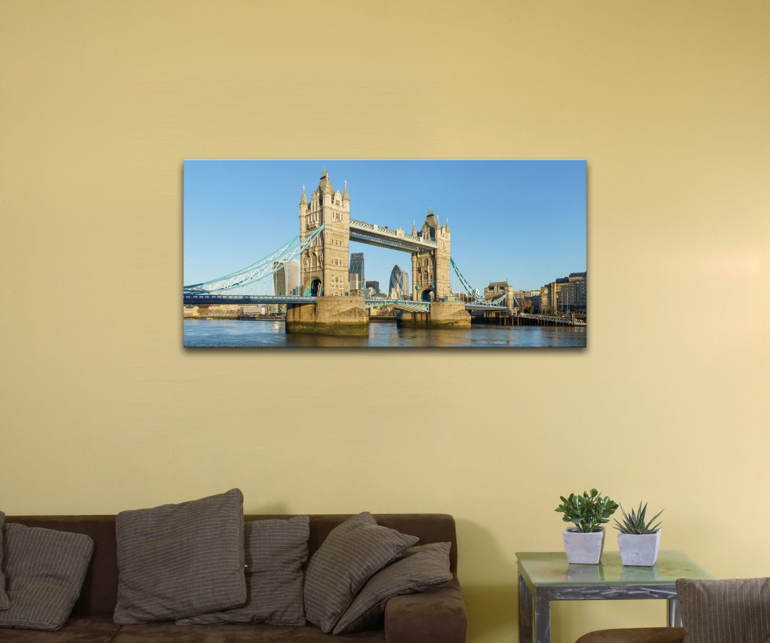 Tower Bridge, United Kingdom (12″ x 24″) – Canvas Wrap Print