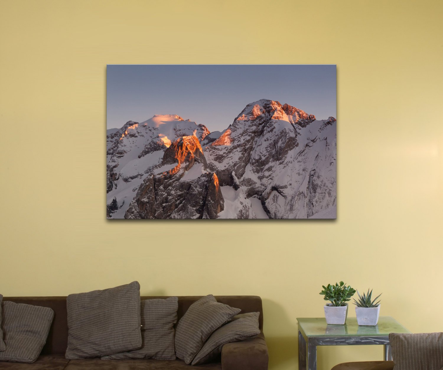 "Marmolada Mountain, Italy (8"" x 10"") - Canvas Wrap Print"