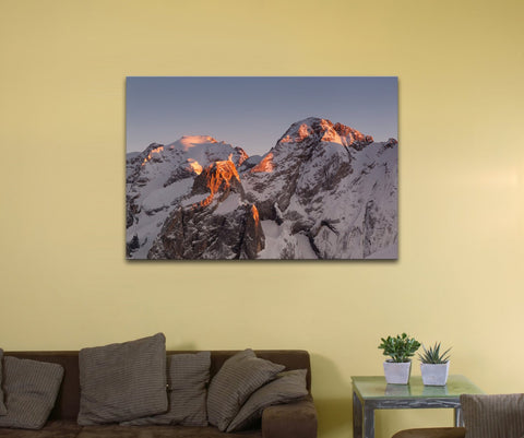 "Marmolada Mountain, Italy (12"" x 18"") - Canvas Wrap Print"