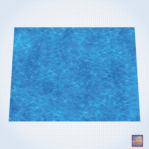 "Clear Seas - #GM201 - 60"" x 80"" (4' x 6' plus) Fleece Table Top Gaming Mat"