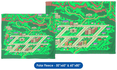 EarthBound, Onett Map - Throw Blanket / Tapestry Wall Hanging