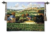 "Vineyards Of Provence - 53""X42"" Tapestry Wall Hanging"