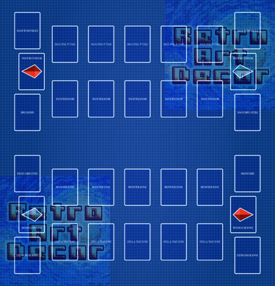 "YGO TCG Two-Player Battle Mat (25"" x 26"")"