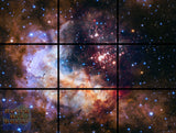 "Celestial Fireworks, Hubble 25th Anniversary HD Space Photo - 72"" x 54"", GIANT 9-Piece Canvas Wall Mural"