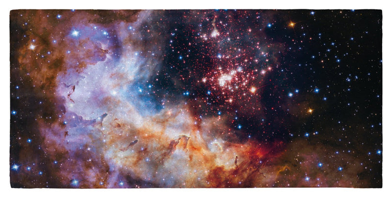 "Celestial Fireworks, Hubble 25th Anniversary HD Space Photo - 30"" x 60"" Microfiber Beach Towel"