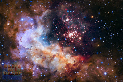 "Celestial Fireworks, Hubble 25th Anniversary HD Space Photo (16"" x 24"") - Canvas Wrap Print"