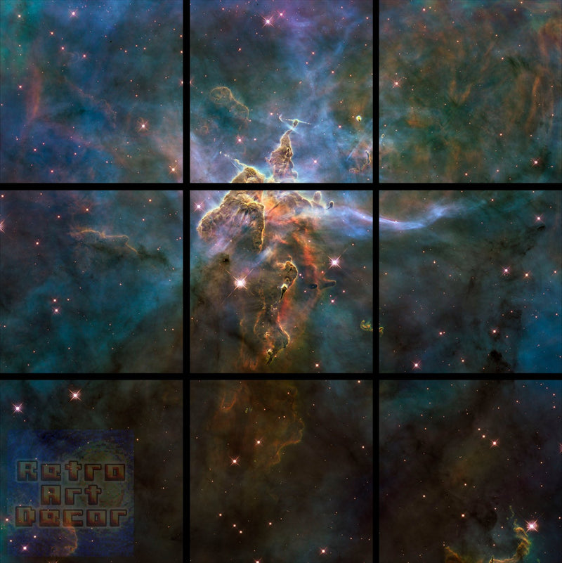 "Mystic Mountain, HD Hubble Image - 60"" x 60"", GIANT 9-Piece Canvas Wall Mural"