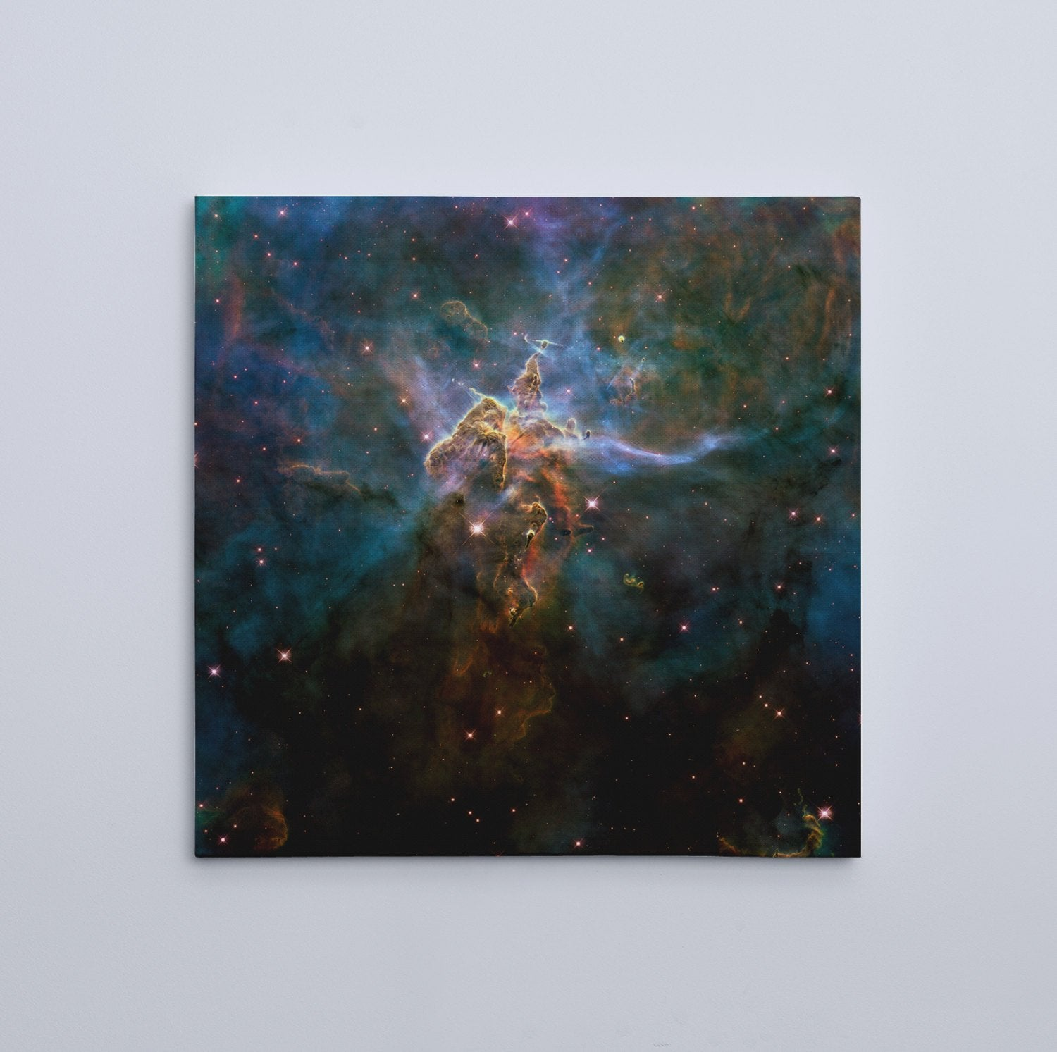"Mystic Mountain, HD Hubble Image (16"" x 16"") - Canvas Wrap Print"