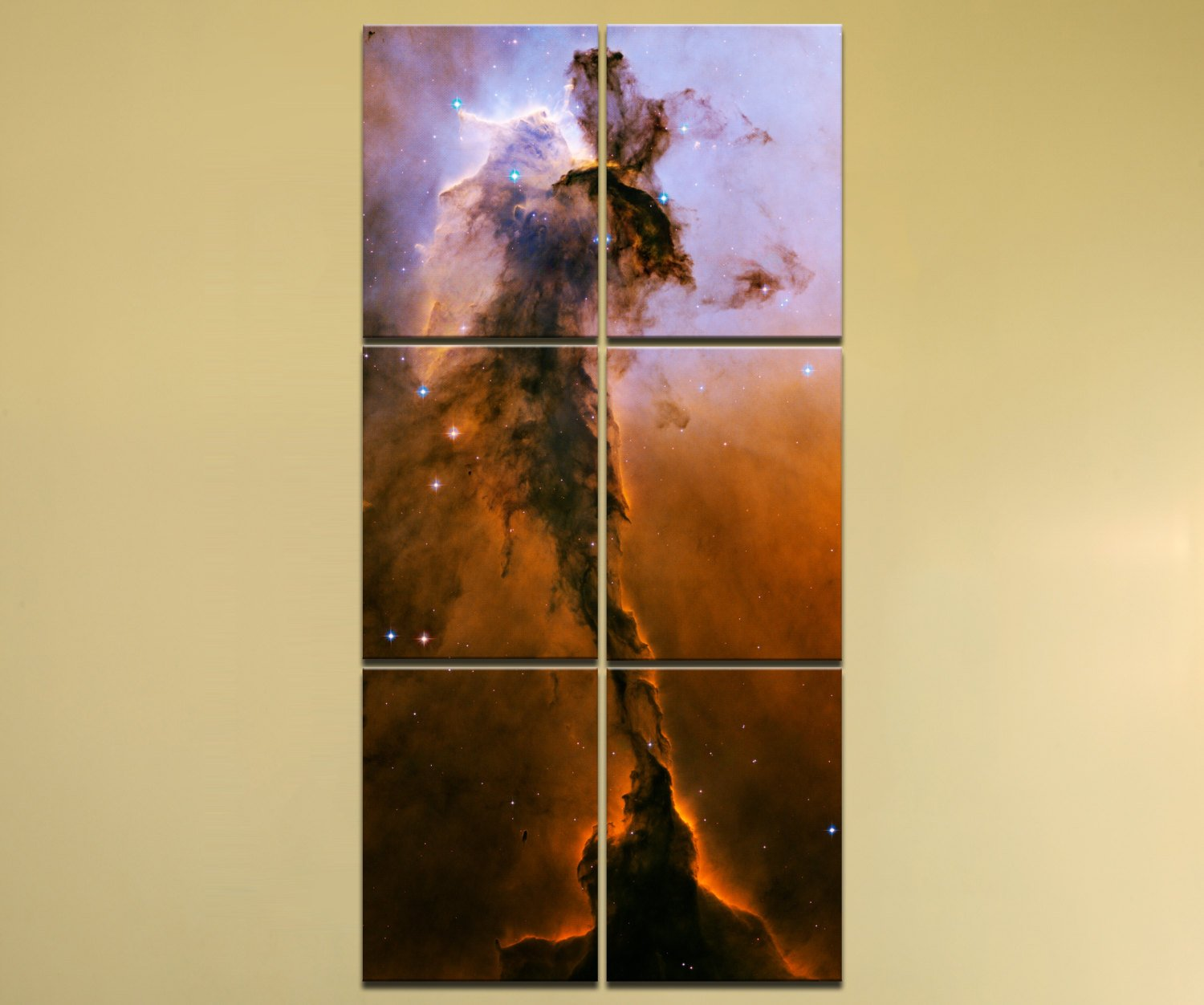 Stellar Spire in the Eagle Nebula – 36″ x 72″, 6-Piece Vertical Canvas Wall Mural