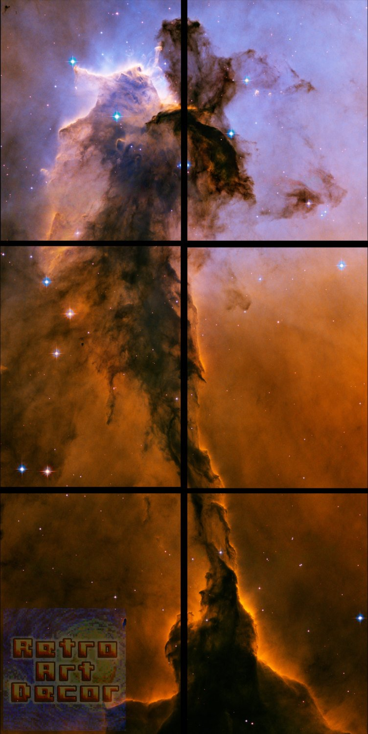 "Stellar Spire in the Eagle Nebula - 36"" x 72"", 6-Piece Vertical Canvas Wall Mural"