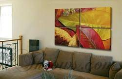"Canvas Split 72"" x 48"" (4-36x24 panels)-PersonalThrows"