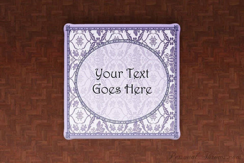 Mother's Day Gifts,Photo Home & Office - Custom Text Floral Damask Linen Table Cloth