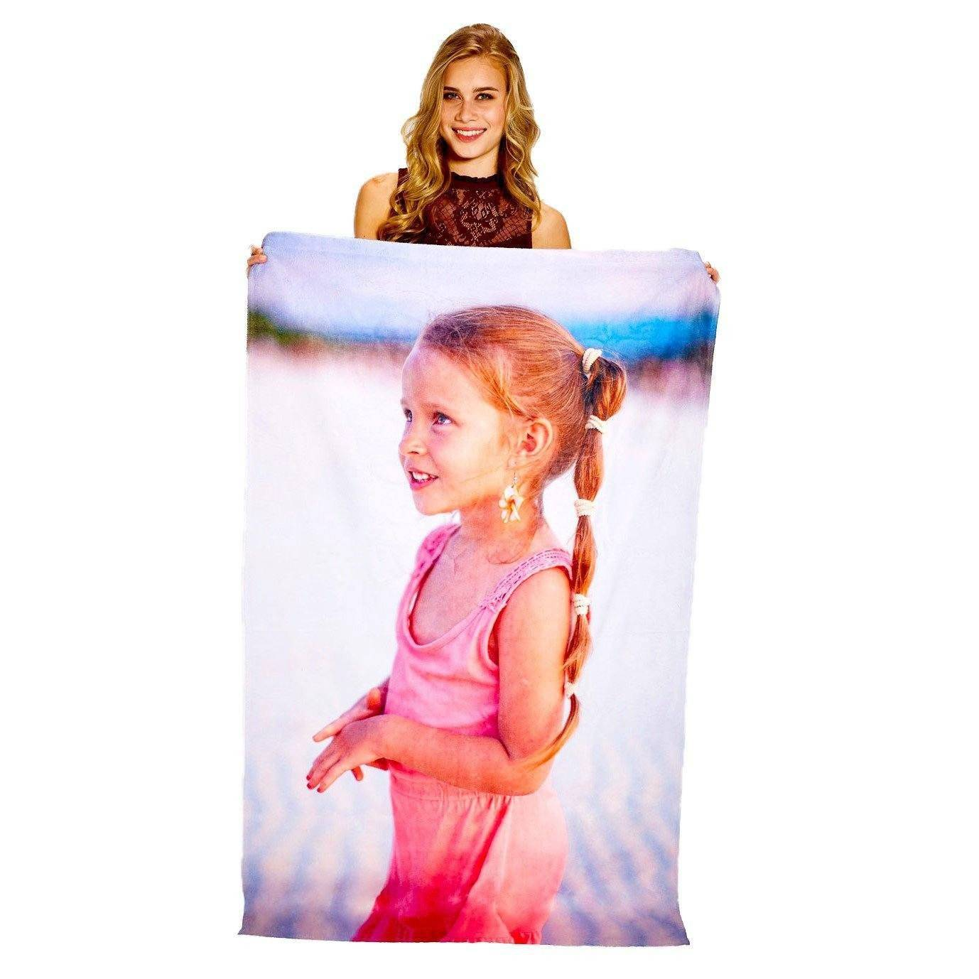"35"" x 60"" Heavyweight Terry-Velour Photo Beach Towel"