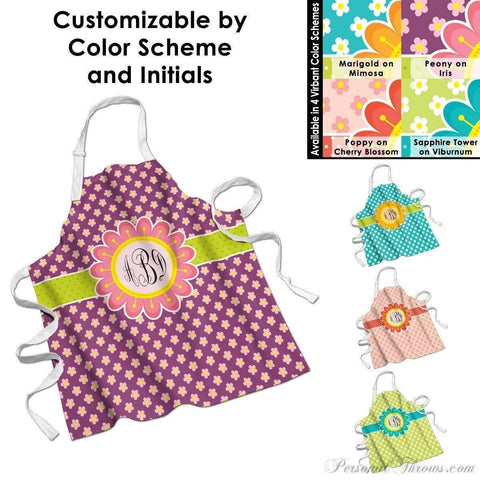 "Photo Apparel,Monogrammed Gifts,Other Products - Blooming Spring Monogrammed Apron - 27"" X 31"""