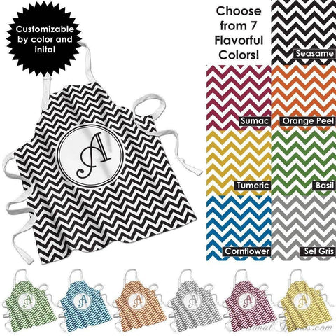 "Photo Apparel,Monogrammed Gifts,Other Products - Chevron Monogrammed Apron - 27"" X 31"""