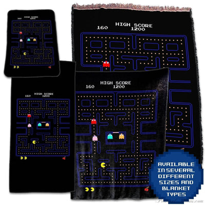 Photo Blankets,Designer Gifts - Pac-Man Retro Video Game Throw