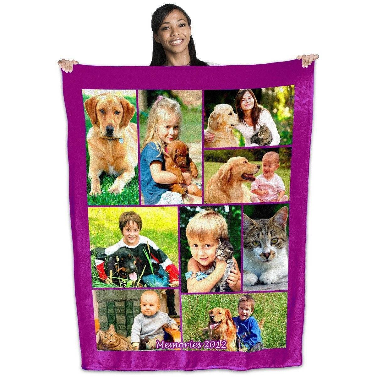 "Full Service Photo Collage Plush Fleece Blanket - 50"" x 60"""