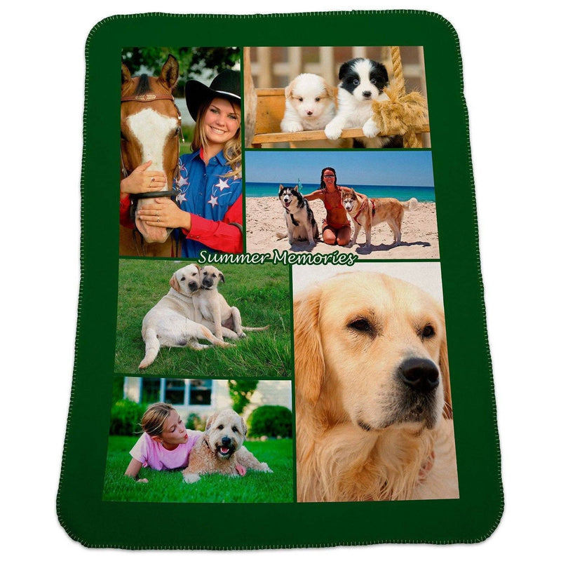 "Photo Blankets - Full Service Photo Collage Polar Fleece Blanket - 30""x40"""