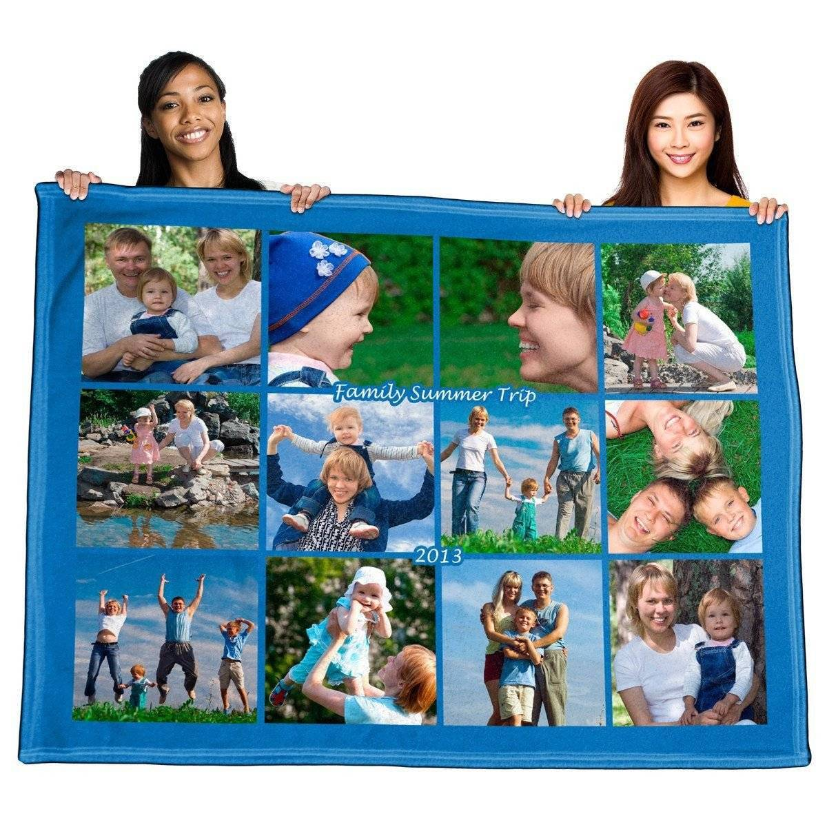"Full Service Photo Collage Polar Fleece Blanket - 60"" x 80"""