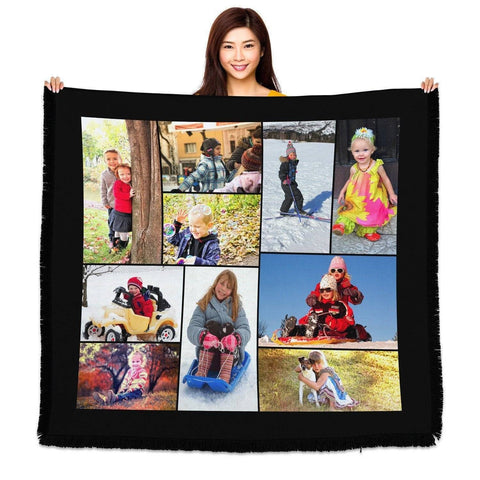 "Photo Blankets - HD Woven Full Service Collage Blanket 60"" X 54"" (Large)"