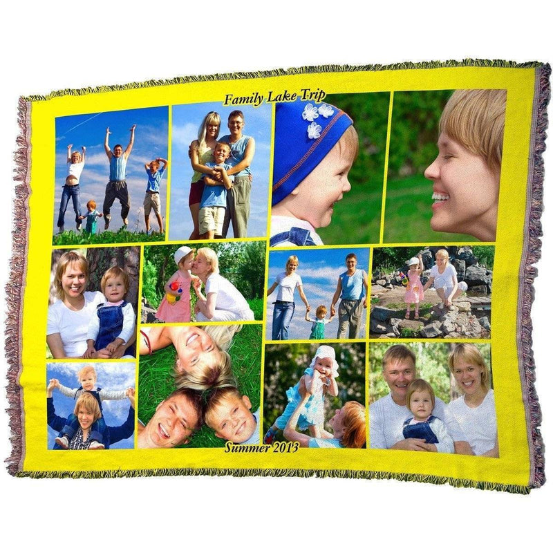 "HD Woven Full Service Collage Blanket 70"" x 54"" (Large)"