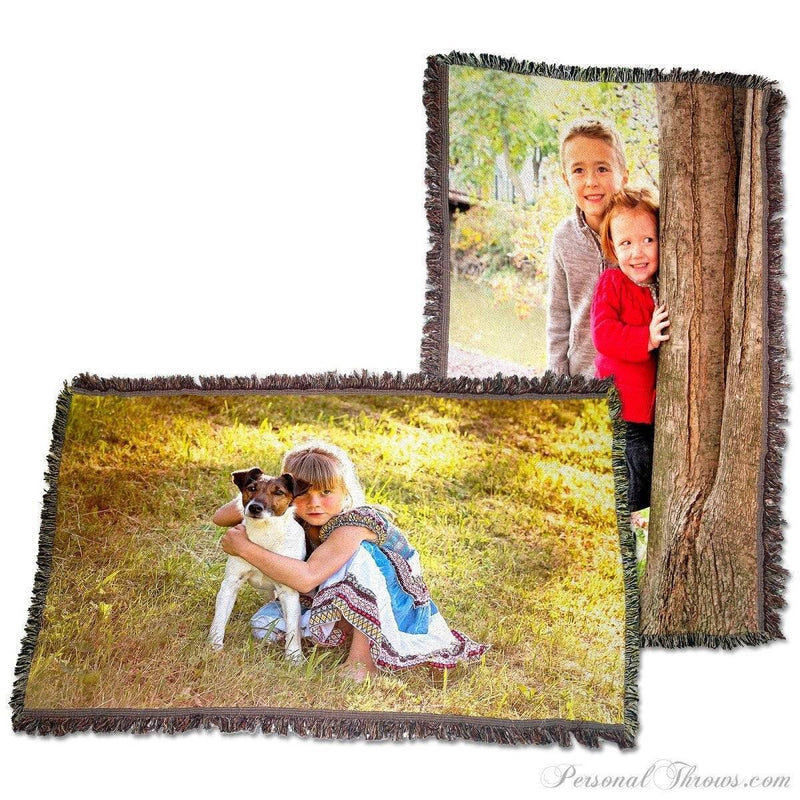 "Photo Blankets,Holiday Gifts,Mother's Day Gifts - HD Woven Photo Blanket - 54"" X 38"" (Medium)"