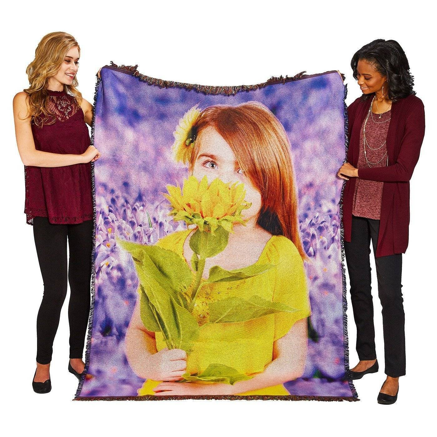 "HD Woven Photo Blanket - 70"" x 54"" (Large)"