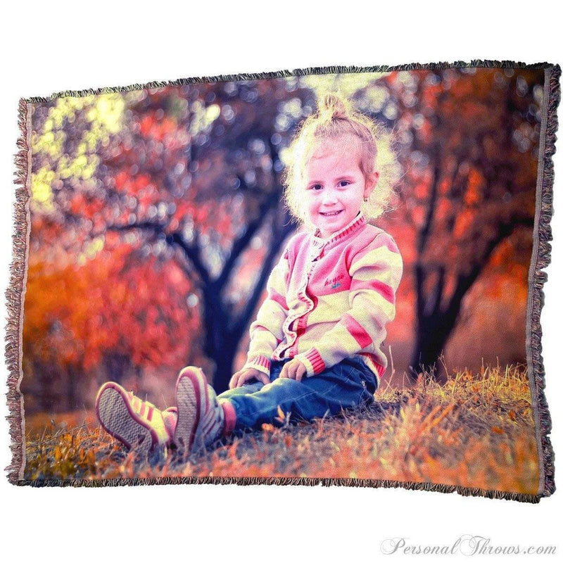 "Photo Blankets,Holiday Gifts,Mother's Day Gifts - HD Woven Photo Blanket - 70"" X 54"" (X-Large)"