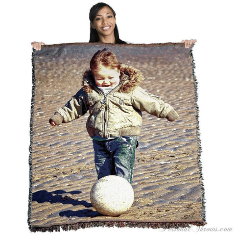 "Photo Blankets,Holiday Gifts,Mother's Day Gifts - Jacquard Woven Photo Blanket - 60"" X 54"" (Medium)"