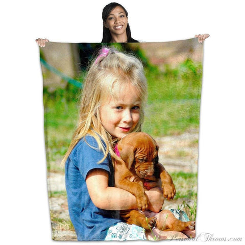 "Photo Blankets,Holiday Gifts,Mother's Day Gifts - Plush Fleece Photo Blanket - 50"" X 60"""