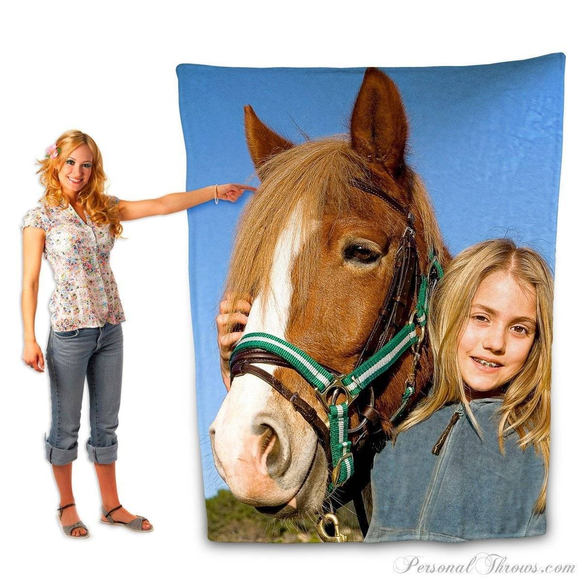 "Photo Blankets,Holiday Gifts,Mother's Day Gifts - Plush Fleece Photo Blanket- 60"" X 80"""