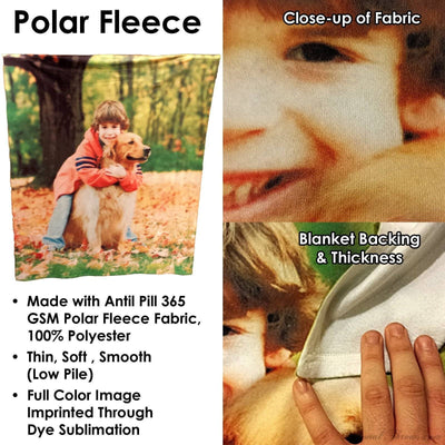 "Photo Blankets,Holiday Gifts,Mother's Day Gifts - Polar Fleece Photo Blanket - 50"" X 60"""
