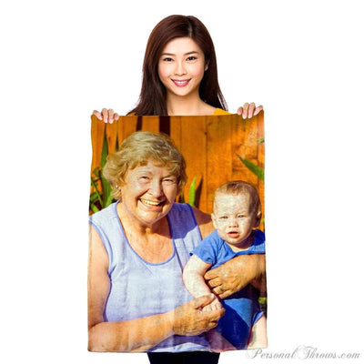 "Photo Blankets,Holiday Gifts - Plush Fleece Mini Photo Blanket - 30"" X 40"""