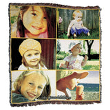 "Photo Blankets - Jacquard Woven Full Service Collage Blanket - 60"" X 54"" (Medium)"