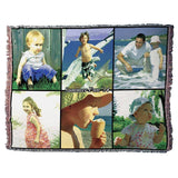 "Photo Blankets - Jacquard Woven Full Service Collage Blanket - 70"" X 54"" (Large)"