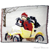 "Photo Blankets,Mother's Day Gifts - Jacquard Woven Photo Blanket - 70"" X 54"" (Large)"