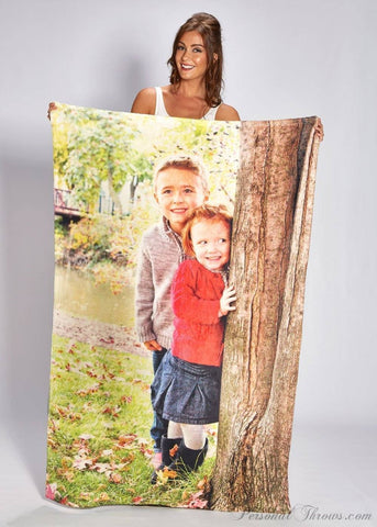 "Photo Blankets - Plush Fleece Photo Blanket - 40"" X 60"""
