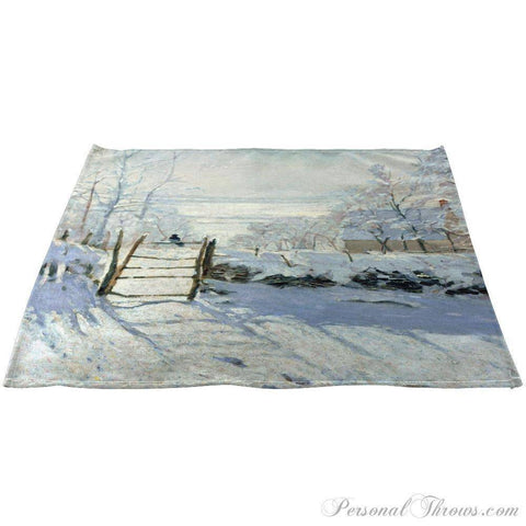 "Photo Home & Office,Holiday Gifts - Claude Monet's ""The Magpie"" Linen Napkins 20"" X 20"", Set Of 12"