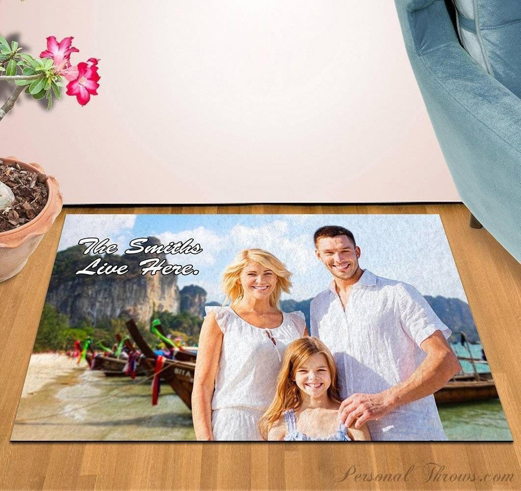 "Large Photo Floor Mat, 36"" x 60"", 8 oz Felt, Durgan Backed"