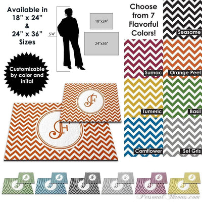 Photo Home & Office,Monogrammed Gifts,Other Products - Chevron Monogrammed Floor Mat