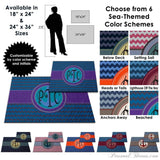 Photo Home & Office,Monogrammed Gifts,Other Products - Nautical Monogrammed Floor Mat