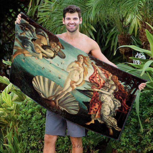 "Photo Towels,Designer Gifts - Botticelli's ""The Birth Of Venus"" Beach Towel - 30"" X 60"""