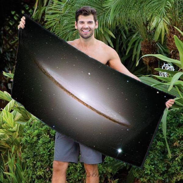 "Photo Towels,Designer Gifts - M104, The Sombrero Galaxy Beach Towel - 30"" X 60"""