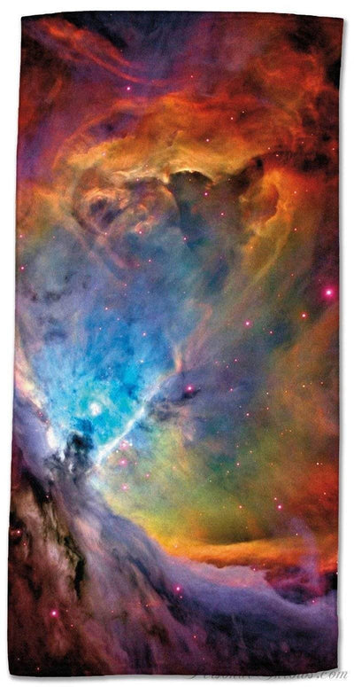 "Photo Towels,Designer Gifts - Orion Nebula Beach Towel - 30"" X 60"""
