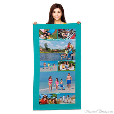 "Photo Towels,Holiday Gifts,Other Products,Photo Blankets - 35"" X 65"" Jumbo Heavyweight Photo Collage Beach Towel"