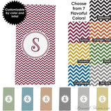 "Photo Towels,Monogrammed Gifts,Other Products,Mother's Day Gifts - Chevron Monogrammed Beach Towel - 30"" X 60"""
