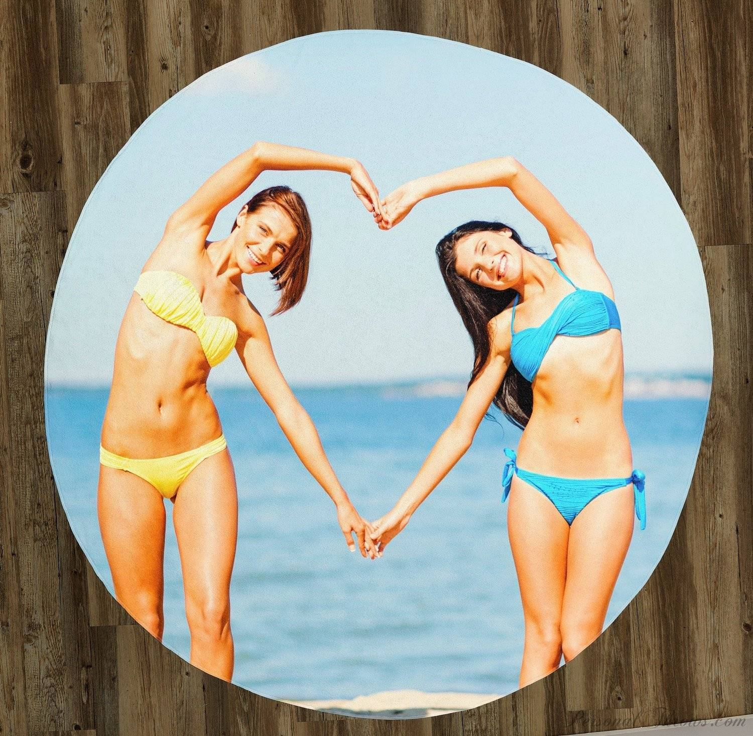 "60"" Round Photo Beach Towel"