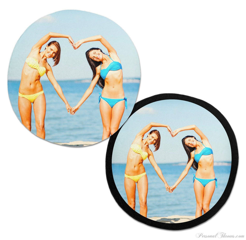 "Photo Towels,Mother's Day Gifts,Valentine's Day Gifts - 60"" Round Photo Beach Towel"